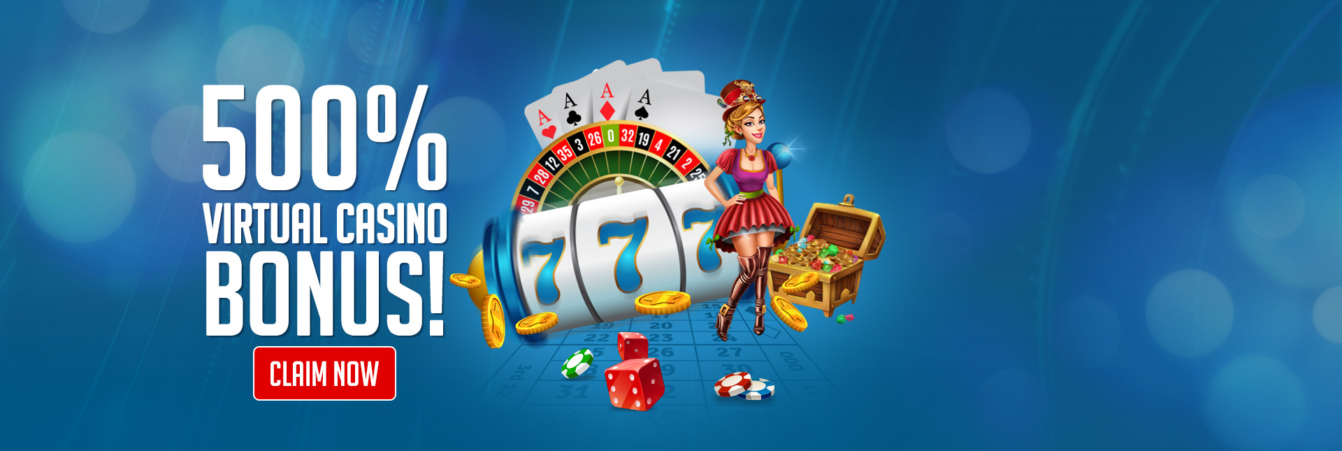 500% Virtual Casino Bonus