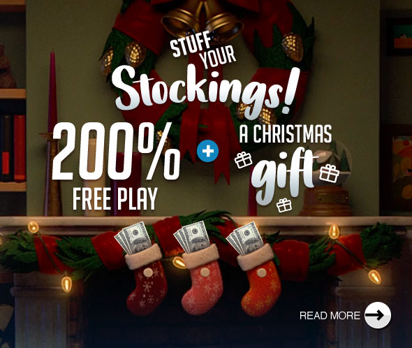 Stuff Your Stockings! 200% Free Play + A Christmas Gift