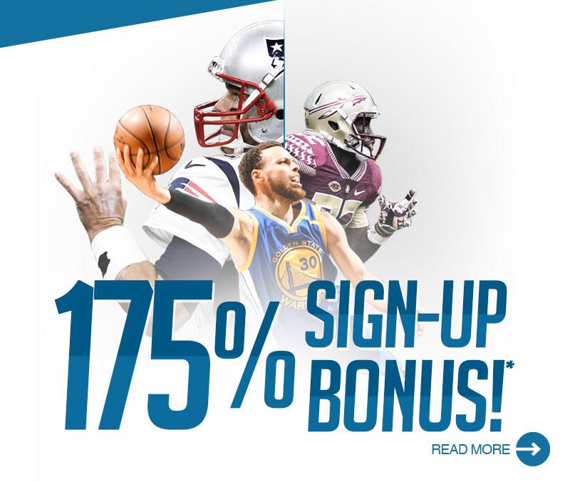 175% Sign-up Bonus!