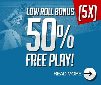 LOW ROLL: 50% Free Play!