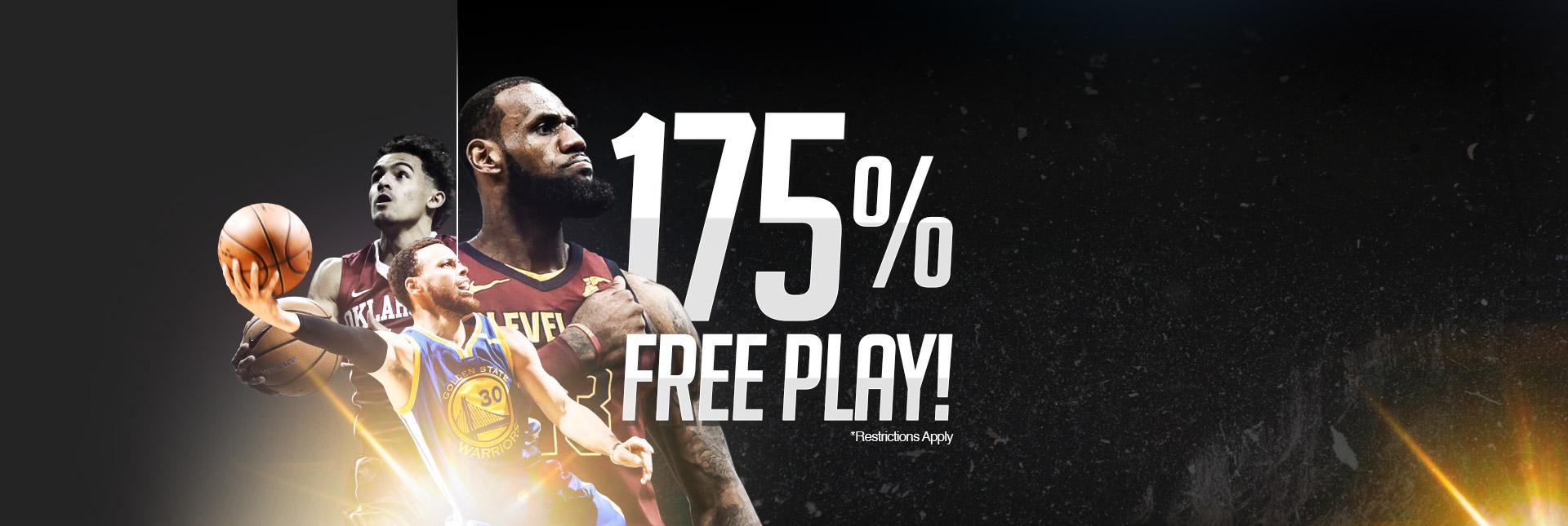 175% Free Play!