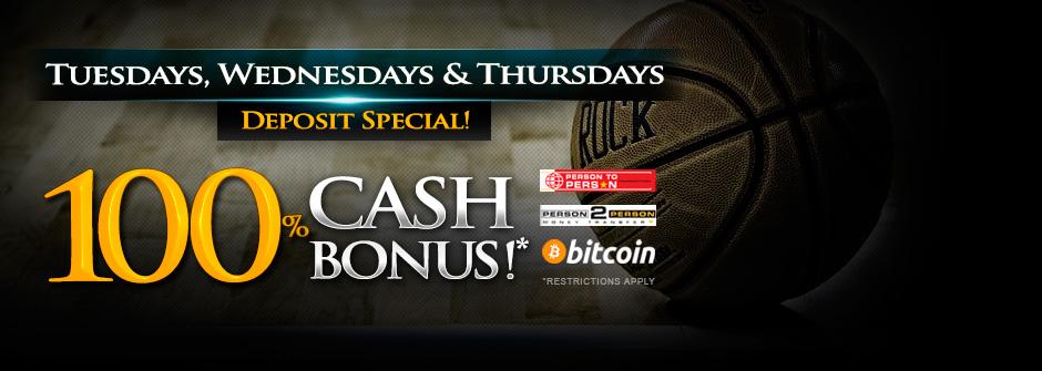100% Cash Bonus!