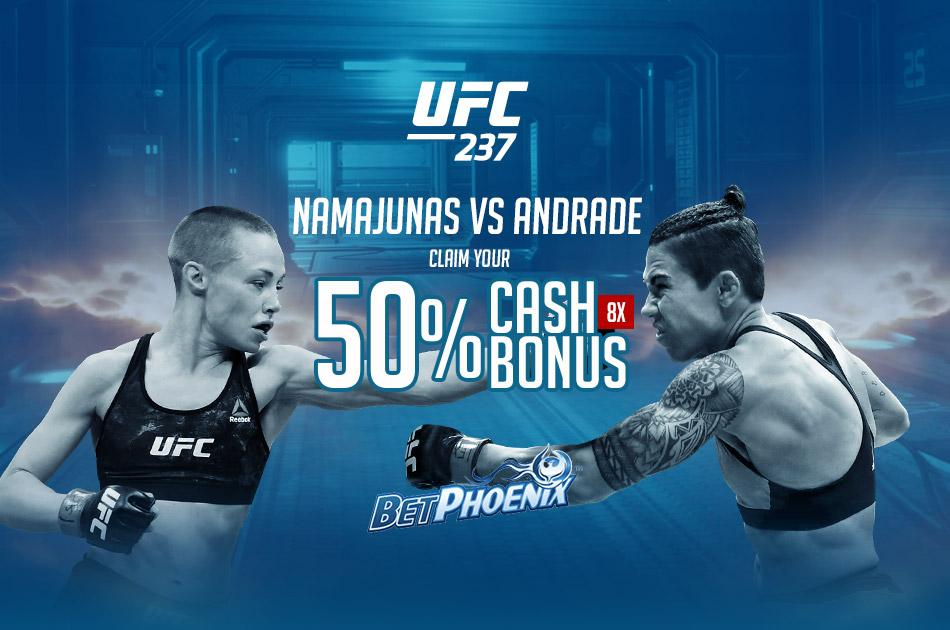 Don't Miss This Sportsbook Cash Bonus for The UFC 237 Weekend!