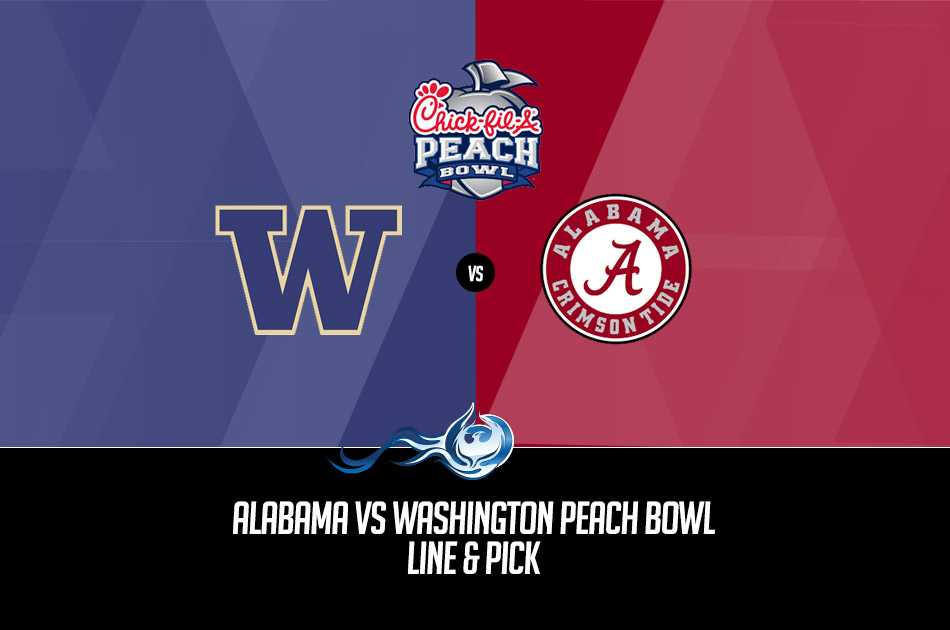 Alabama Vs Washington Peach Bowl Line & Pick