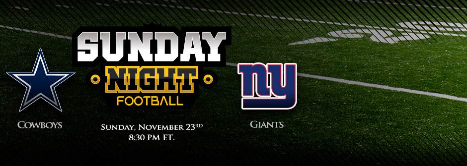 Sunday Night Football Sports Betting - Cowboys vs Giants