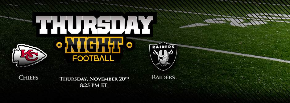 Thursday Night Football Week Sports Betting - Chiefs vs Raiders