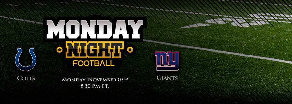 Monday Night Football Betting - Colts vs Giants