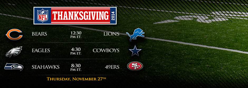 NFL Thanksgiving Games 2014