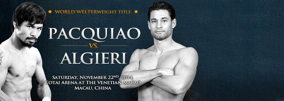 Manny Pacman Pacquiao vs Chris Algieri - World Welterweight Championship