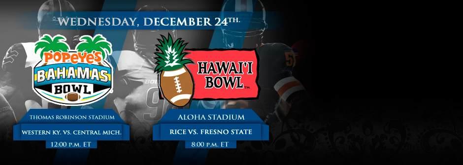 College Bowls Wednesday December 24