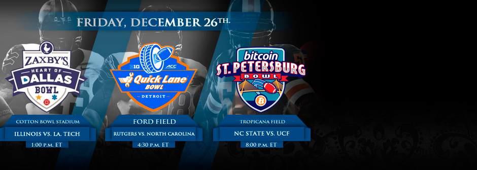 NCAA Bowls December 26