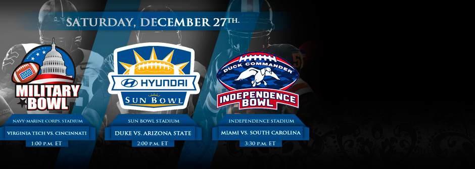 NCAA Bowls December 27
