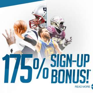 175% Sign-up Bonus!