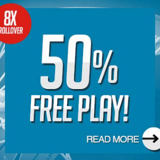 50% Free Play!