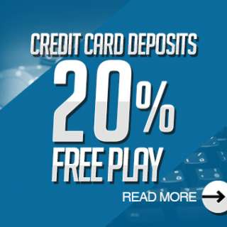 Credit Card Deposit 20% Free Play