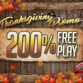 200% Free Play Thanksgiving Special
