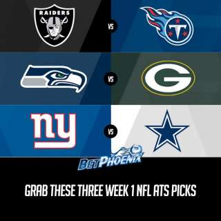 Grab These Three Week 1 NFL ATS Picks