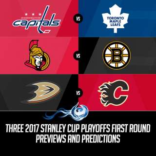 Three 2017 Stanley Cup Playoffs First Round Previews and Predictions