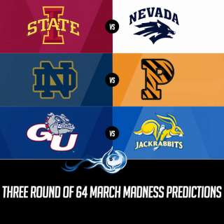 Three Round of 64 March Madness Predictions