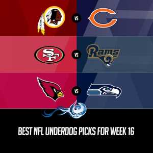 Best NFL Underdog Picks For Week 16