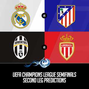 UEFA Champions League Semifinals Second Leg Predictions